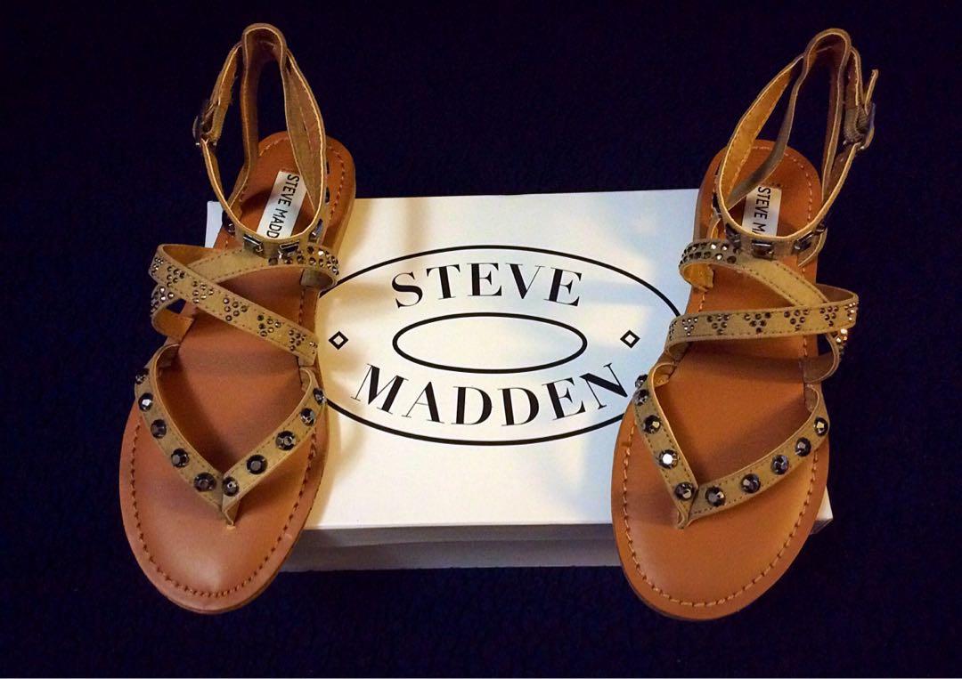 Steve Madden Leather Strap Sandal