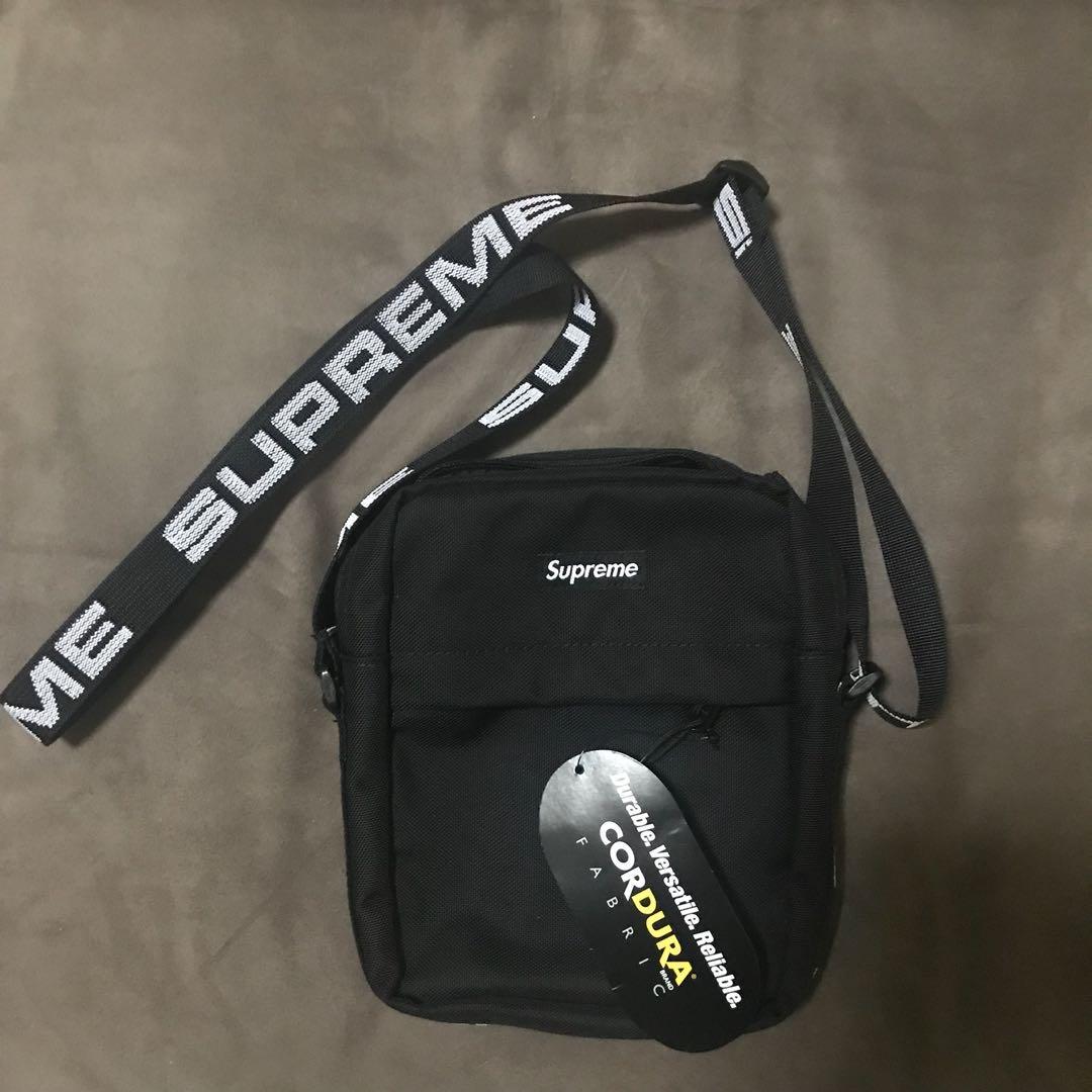 52ec9d35051 Supreme Ss 18 Shoulder bag black stock on hand, Men's Fashion, Bags ...