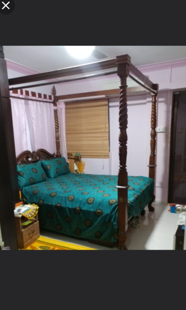 Teakwood Bed Sets Used Furniture Beds Mattresses On Carousell