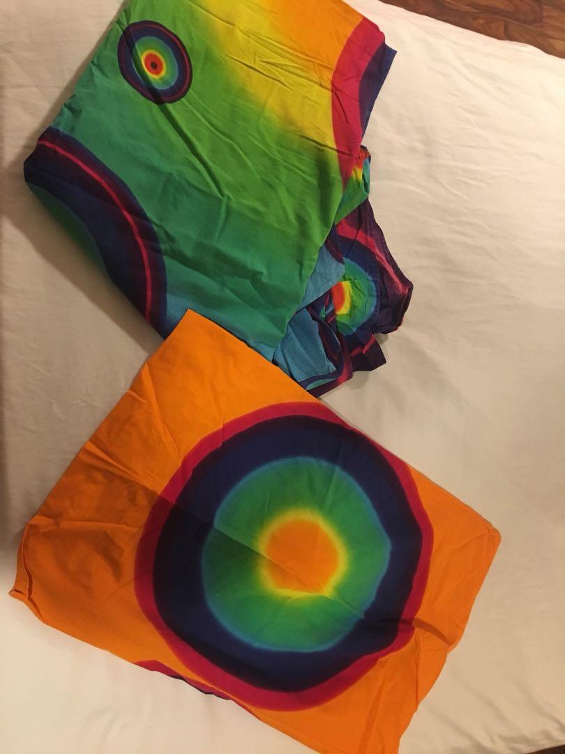 Tie dye bed spread, double