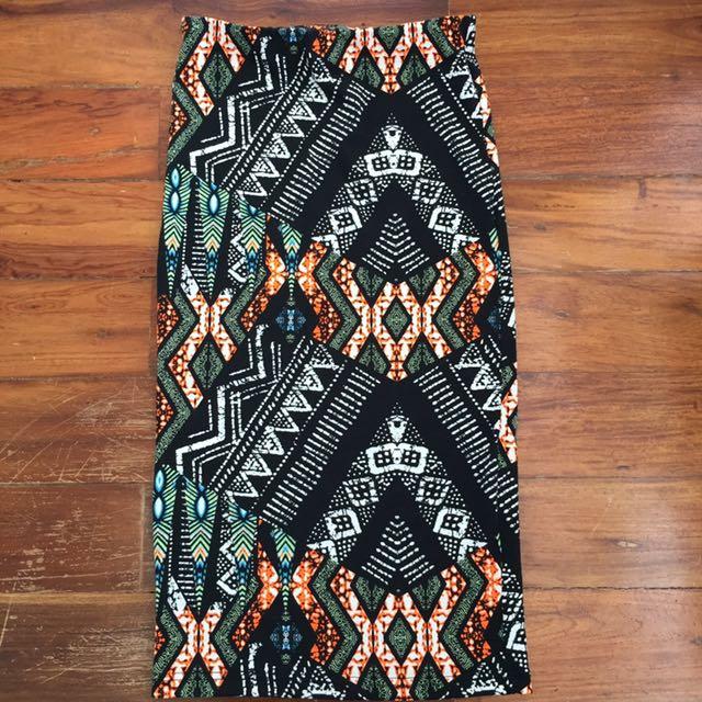 Topshop Aztec Pencil Skirts