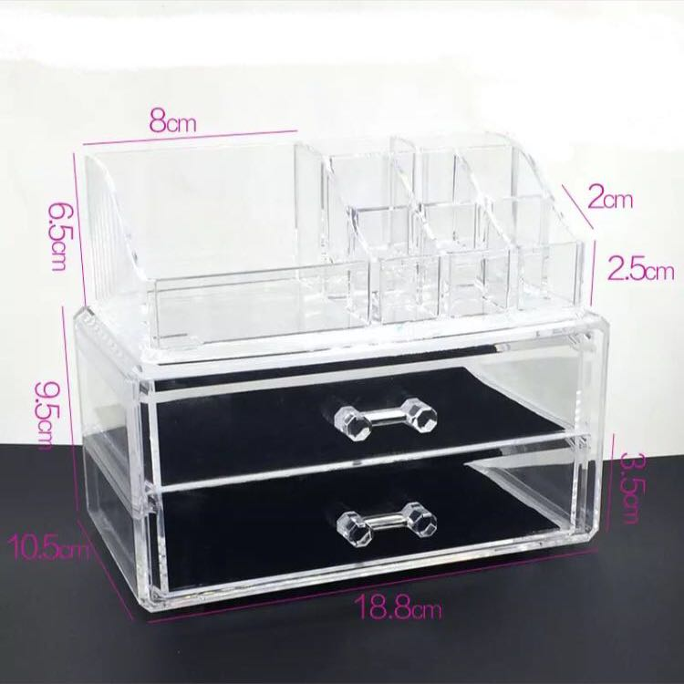 Transparent make up box
