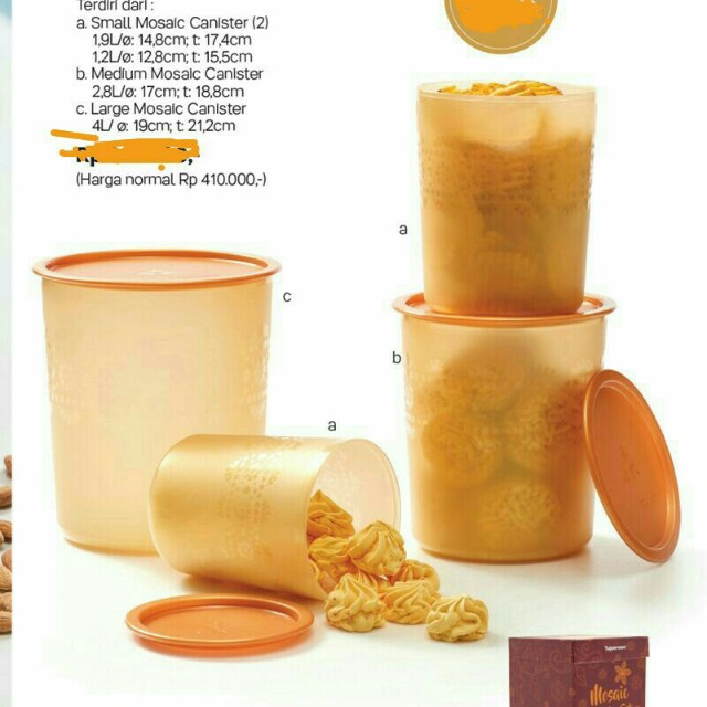 Tupperware Mosaic Canister Set