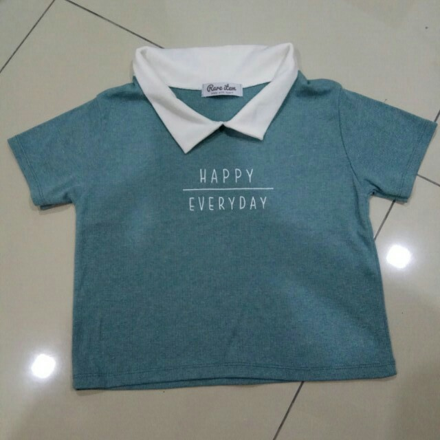 Turquoise green Happy everyday top