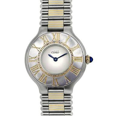 very good condition Authentic Cartier must 21 two tone ladies watch - no inclusions