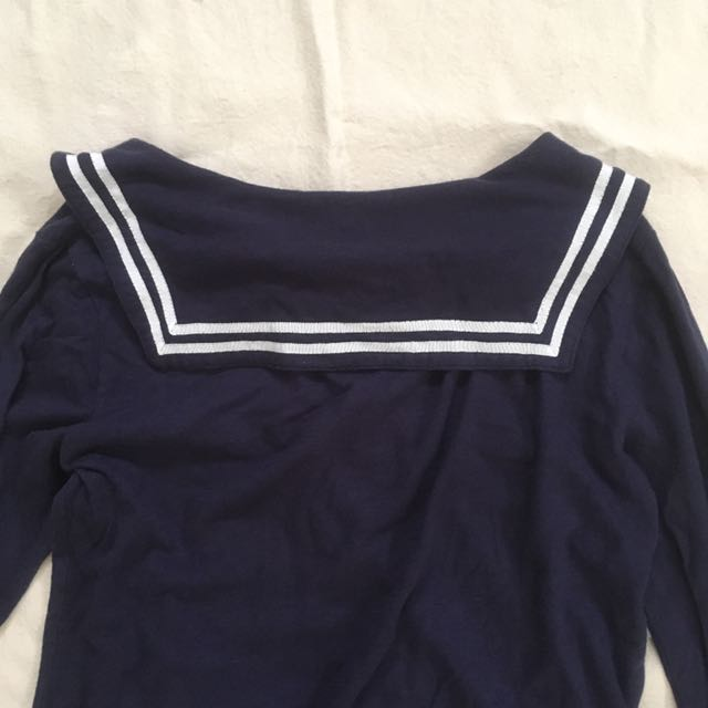 Vintage 日系水手領上衣 ewear 神經病媽媽 planet o.poism