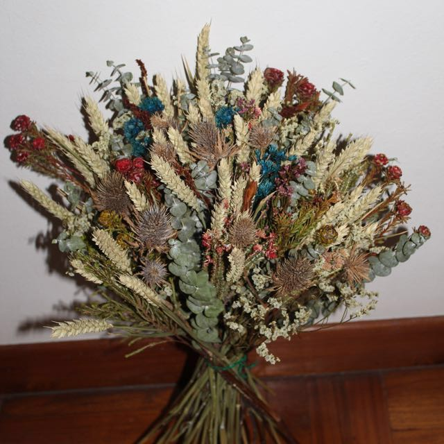 Wheat dry flower bouquet, Gardening on Carousell