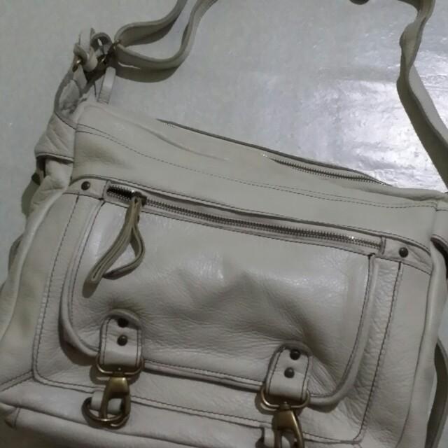 White Messenger Bag