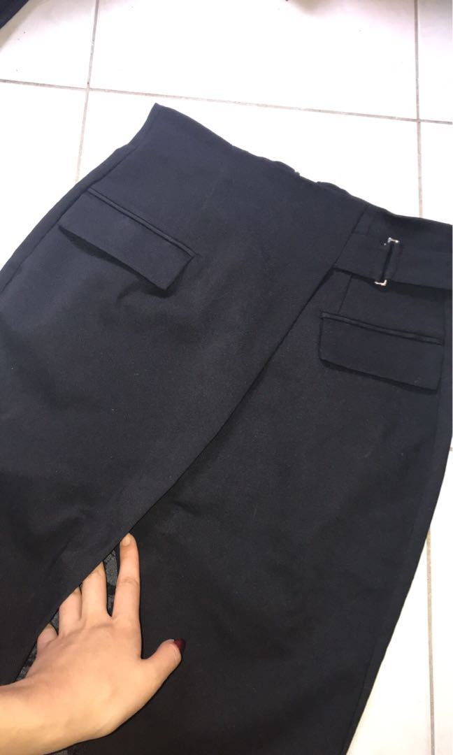 Wrap black womens skirt, perfect for work!
