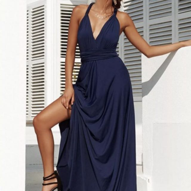 "XENIA Boutique 'The Perfect Date 2.0 Multiway Maxi Dress"" in Navy brand new"