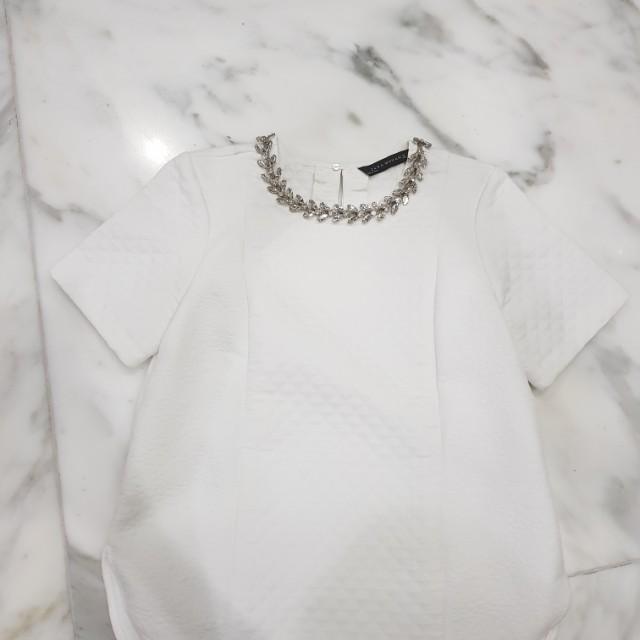 Zara Jacuard Top