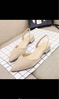 BNIB beige low heels