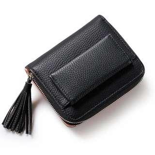 BNIP Black Tassel Short Wallet