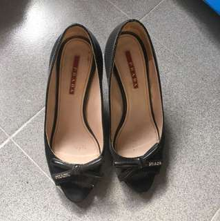 Prada high heel shoes 高跟鞋 了36.5 size