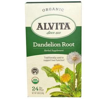 Alvita Teas, Dandelion Root, Organic, Caffeine Free, 24 Tea Bags, 1.69 oz (48 g)