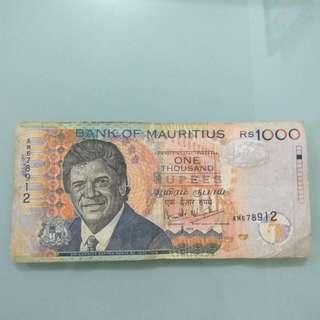 Mauritius 1000 Rupees