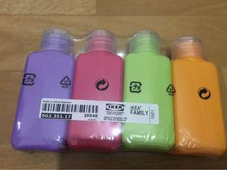 Authentic IKEA Travel Bottles, Set of 4