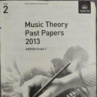 ABRSM Music Theory Grade 2 Past Year Paper Music 2013