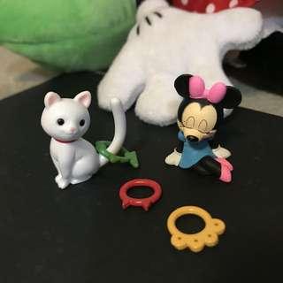 🚚 《扭蛋趣》療癒系 睡覺米妮 與 套圈圈貓