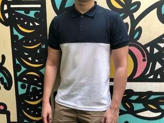 B & W polo shirt