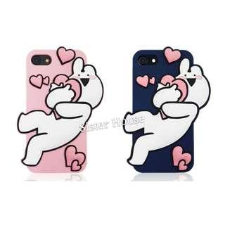 (包郵)🇰🇷Extremely Rabbit Silicone Phone Case 愛跳舞的兔子軟手機殼