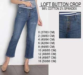 Branded Loft Button Crop pants