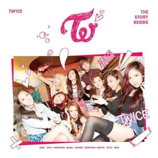 [New Sealed] TWICE Albums - The Story Begins Page TWO LANE 1 Merry Happy Albums