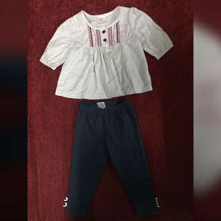 set RM15 tops & jeans