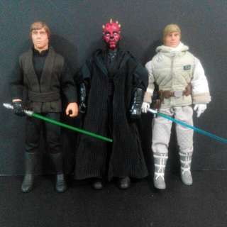 "Hasbro Star Wars Skywalker 星球大戰公仔 Luke,Darth Maul 12"" Inch Action Figure 3個"