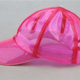 Clear Transparent Pink Vinyl Cap
