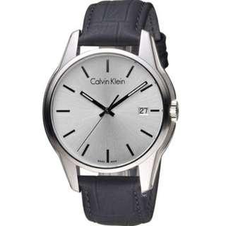 CK Calvin Klein 都會型男時尚腕錶 K7K411C1 黑/白(44mm)手錶