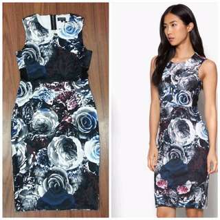 🆕 Grey Rose Bodycon OL Vintage