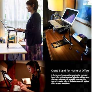 CRANE ELITE LAPTOP STAND for HOME/ OFFICE/ SCHOOL/ DJ/ COMMERCIAL (UP $349.00) WAREHOUSE PRICE $199