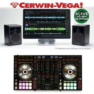 CERWIN-VEGA POWERFUL POWERED ACTIVE DESKTOP MONITOR SPEAKERS (UP $349) BEST WAREHOUSE DEAL $150 PER PAIR