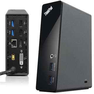 GOOD WORKING Lenovo Onelink Pro Dock DU9033S1 for ThinkPad 4x USB3.0 DVI DP Ethernet Audio