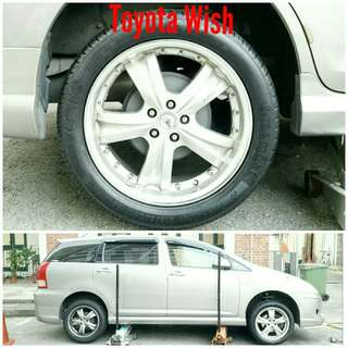 Tyre 215/50 R17 Membat on Toyota Wish 🐕 Super Offer 🙋‍♂️