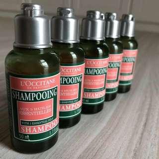 Loccitane Shampoo with 3 Essential Oils Travel Set 50ml x 5
