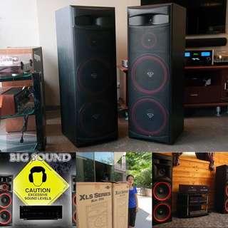 "Cerwin-Vega BIGGEST Dual 15"" Floorstanding Tower Speaker (UP $2900) WAREHOUSE PRICE $1,750 PER PAIR"