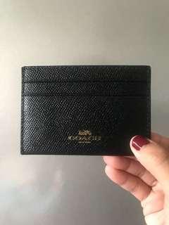 Coach Card Holder (Black)