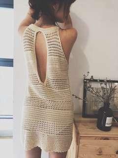 Crochet Beachwear Knitted Dress (po)