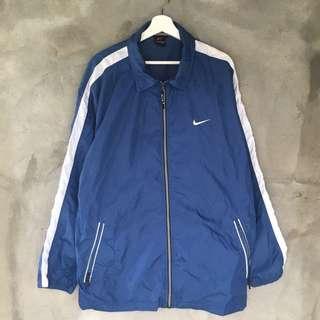 Nike藍色風衣夾克