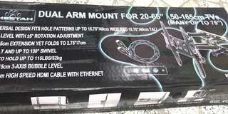 """TV Wall Mount (Dual Arm 20-65inch"""")"""