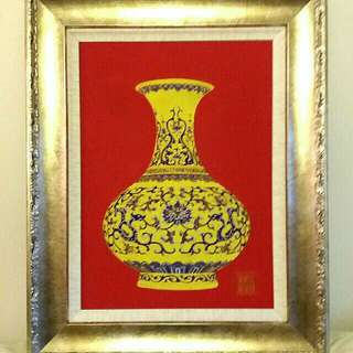 景泰式珐瑯掐絲工藝畫  Handicraft Cloisonne Enamel Inlayed Painting