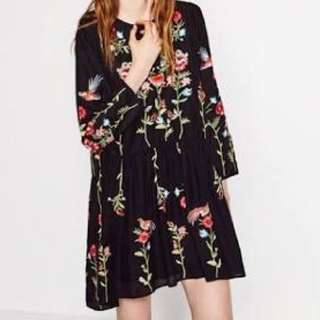 Zara like Floral Dress