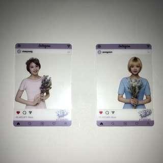 Twice Yes!專輯卡 part3 半透卡 Jeon Yeon Chae Young