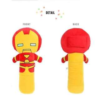 crocodile Dinos Iron Man Spider-Man baby Seat belt billow