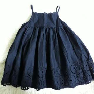 Baby Gap Eyelet Sunday Dress & Gold Dolly shoes Set