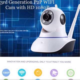 2018 Superclear upgraded 360 HD 1080P IP, Wifi Wireless Surveillance Camera  P2P Security Free SD