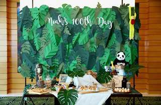 Hand crafted jungle backdrop