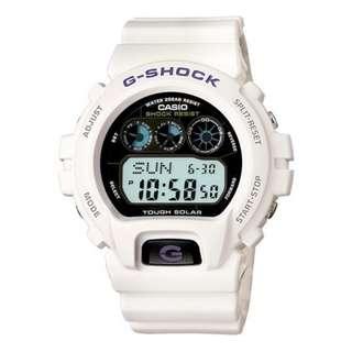 CASIO G-SHOCK G-6900 series G-6900A TOUGH SOLAR 光動能 白色 GSHOCK G6900A